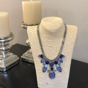 WHBM statement necklace blue and silver